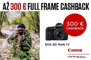 Canon full-frame cashback - až 300€ späť