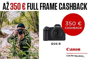 Canon full-frame cashback - až 350€ späť