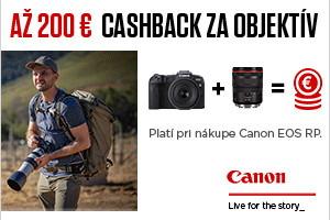 CASHBACK na Canon EOS RP a vybrané objektívy