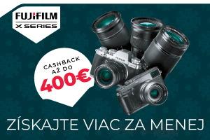 Fujifilm - získajte až 400€ cashback