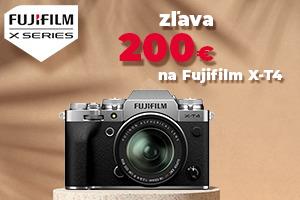 Fujifilm zľava 200€ na X-T4 a zľava až 2000€ na objektívy