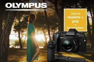 K fotoaparátom Olympus OMD E-M5 III objektív 25/1,8 a grip ZADARMO