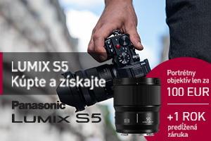 K fotoaparátu Panasonic S5 objektív 50/1,8 len za 100€