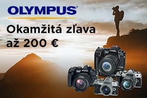 Olympus - okamžitá zľava