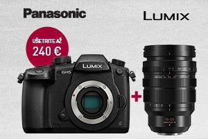 Panasonic fotoaparát + objektív = zľava 240€