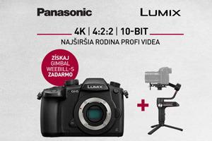 Panasonic LUMIX je najširšia rodina profi videa = získjte Gimbal Weebil S zadarmo