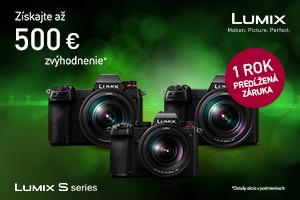 Panasonic Lumix S Promotion - ušetri až 500€ + 1 rok záruka naviac