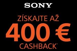 Sony - až 400€ cashback