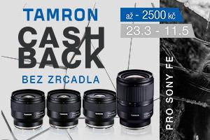 Tamron - jarný cashback 2020
