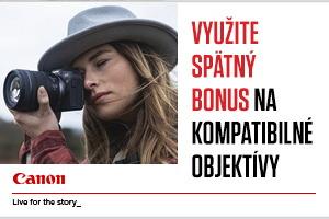 Využite spätný bonus až 1000€ za nákup fotoaparátu s objektívom Canon