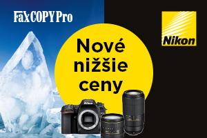 Znížili sem ceny na fotoaparáty a objektívy Nikon