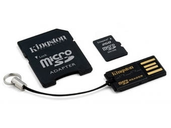 Kingston 32GB MicroSDHC G2 Mobility Kit + adaptér + čítačka