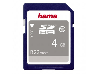Hama 104365 High Speed SDHC 4 GB Class 10