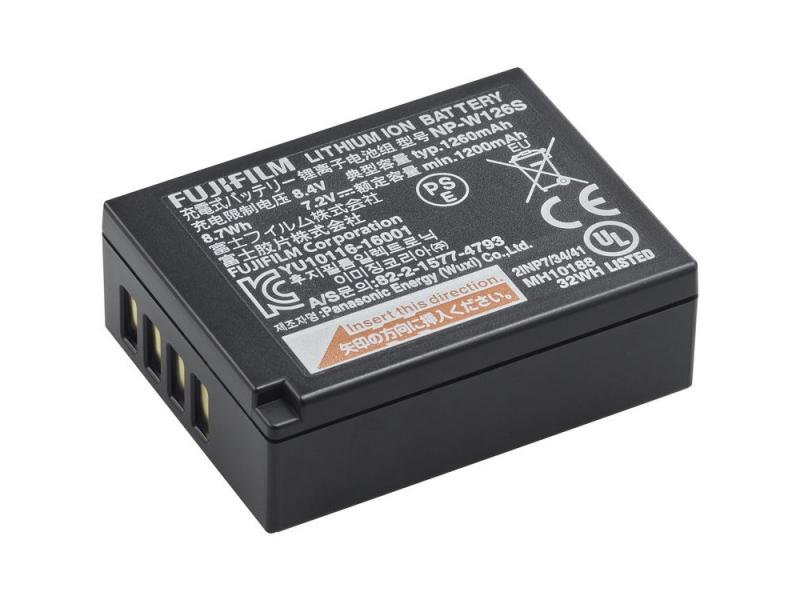 Fujifilm NP-W126S Li-on akumulátor 1260mAh pre X-Pro1/X-Pro2/X-M1/X-E1/X-E2/X-E2S/X-S1/HS30/XT1/XT2/XT10/XT20/X100F