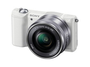 SONY ILCE-5000 Alfa 5000 biela + 16-50mm, bajonet E, APS-C snímač 20,1 MP