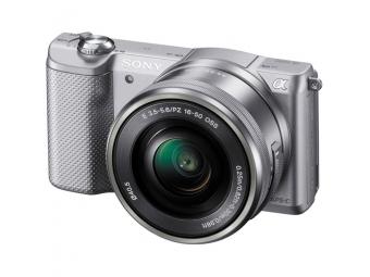 SONY ILCE-5000 Alfa 5000 strieborná + 16-50mm, bajonet E, APS-C snímač 20,1 MP