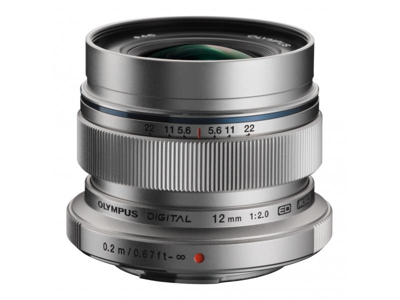 Olympus M.ZUIKO DIGITAL ED 12mm 1:2.0 strieborný -100€ okamžitá zľava