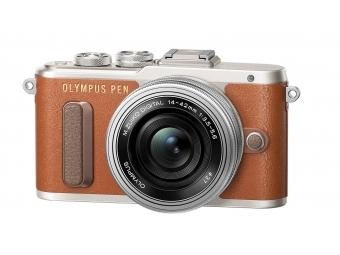 Olympus PEN E-PL8 Kit 14-42 mm EZ hnedý/sivý + púzdro ZADARMO