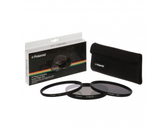Polaroid filter 52mm (UV MC, CPL, ND9) set