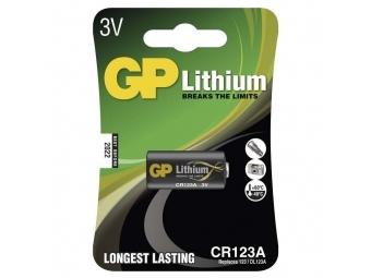 GP CR123A Lithium batéria 3V