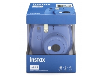Fujifilm Instax mini 9 tmavo modrý + púzdro + film na 10 fotografií