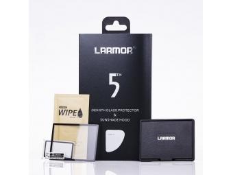 Larmor ochranné sklo na displej 5. generace pre Canon 70D/80D + slnečná clona na displej s magnetickým uchytením