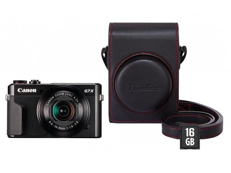 Canon PowerShot G7X Mark II + púzdro DCC-1880 + karta SD 16GB