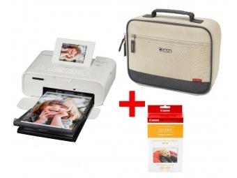 Canon Selphy CP-1200 biela + RP-54 (54ks fotiek) + taška DCC-CP2 béžová