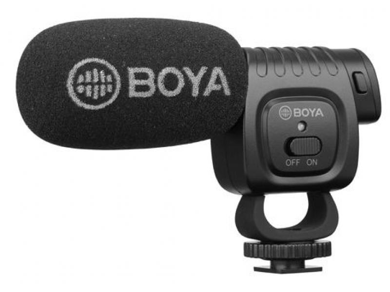 Boya BY-BM3011 Mini shotgun mikrofón s možnosťou uchytenia do sánok fotoaparátu