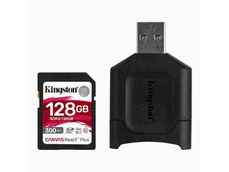 Kingston 128GB SDXC React Plus UHS-II U3 V90 300/260MB/s